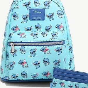 NWT Loungefly Baby Stitch Mini Backpack Set